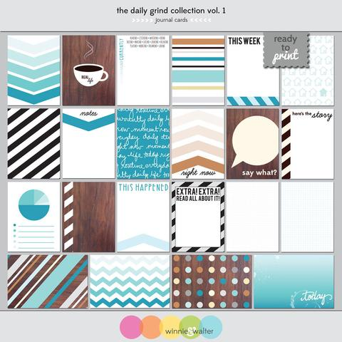 w&w - The Daily Grind Collection Vol 1: Journaling Cards Digital Elements