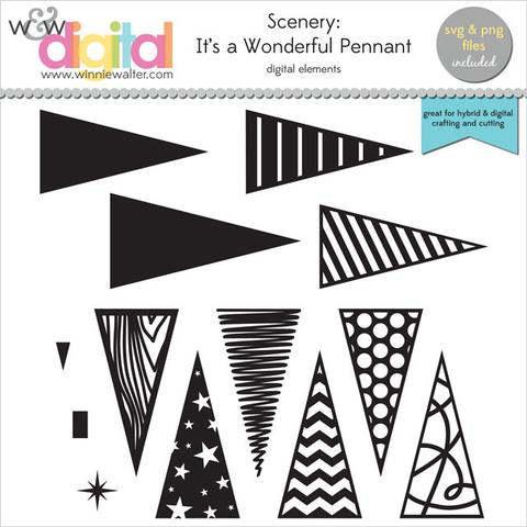 w&w - Scenery: It's a Wonderful Pennant Digital Elements