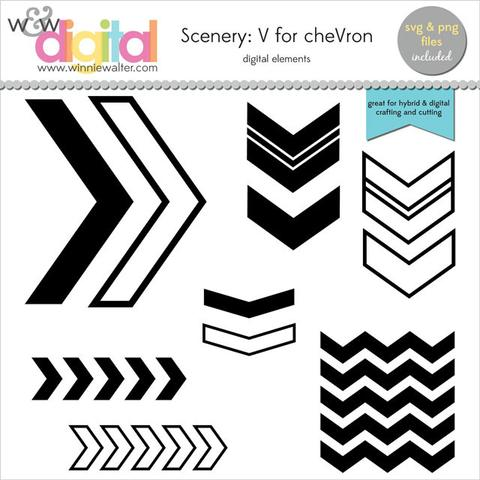 w&w - Scenery: V for cheVron Digital Elements