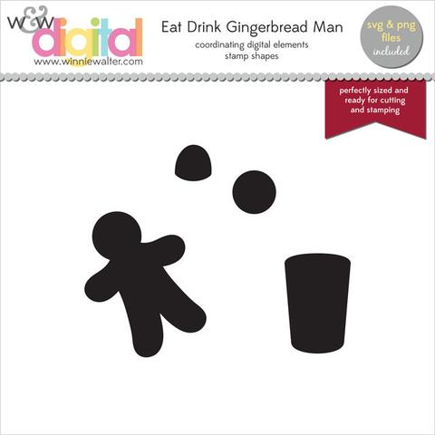 w&w - Eat Drink Gingerbread Man Digital Elements