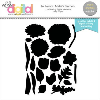 w&w - In Bloom: Addie's Garden Digital Elements