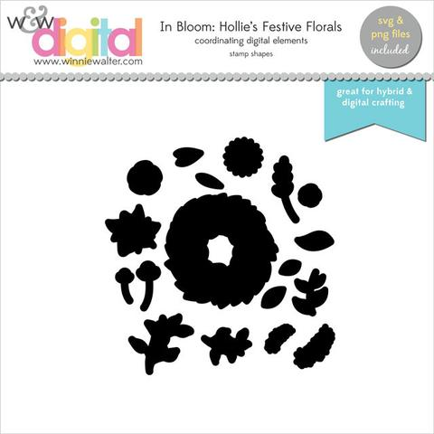 w&w - In Bloom: Hollie's Festive Florals Digital Elements