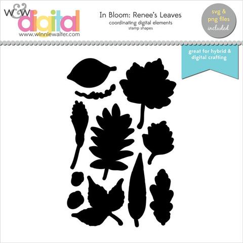w&w - In Bloom: Renee's Leaves Digital Elements