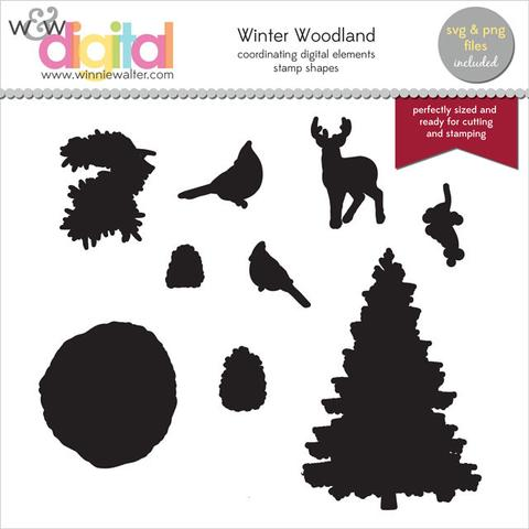 w&w - Winter Woodland Digital Elements