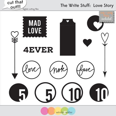 w&w - The Write Stuff: Love Story Cut Files