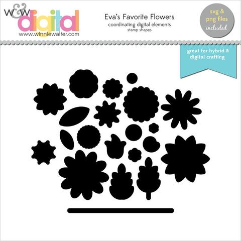 w&w - In Bloom: Eva's Favorite Flowers Digital Elements