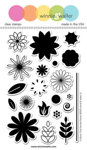 w&w - In Bloom: Eva's Favorite Flowers - clear stamp