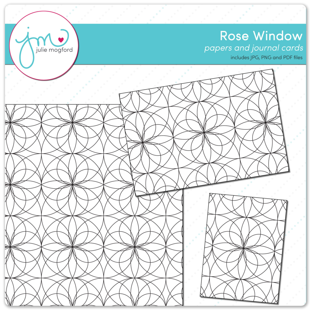 Rose Window Background and Journal Cards From $2
