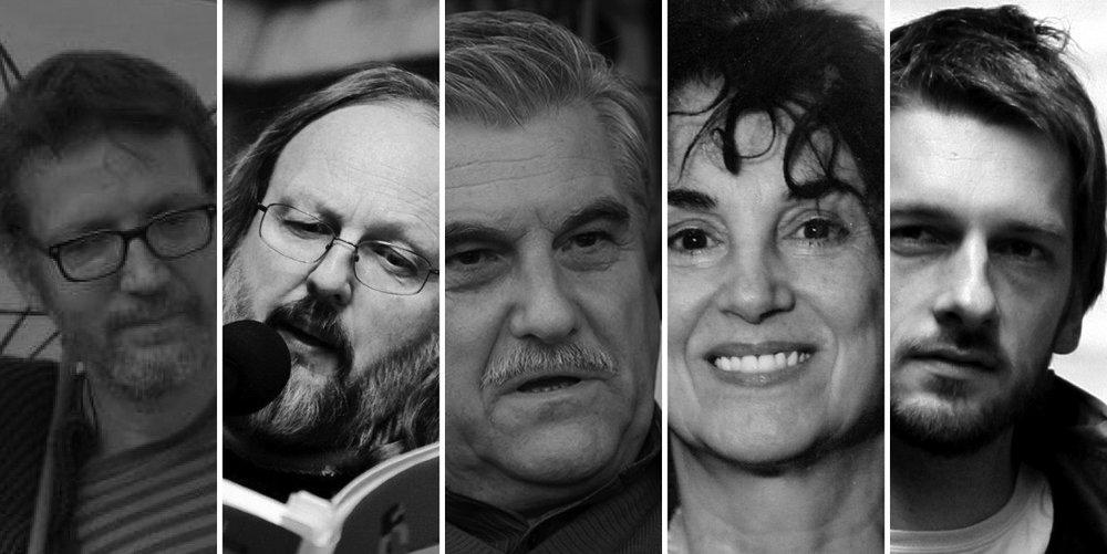 Od leve: Borut Gombač, Uroš Zupan, Andrej Brvar, Erika Vouk, Primož Čučnik
