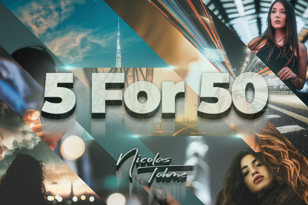 If You wish to Buy the 5 Preset Packs, You'll Get a 50% Discount -