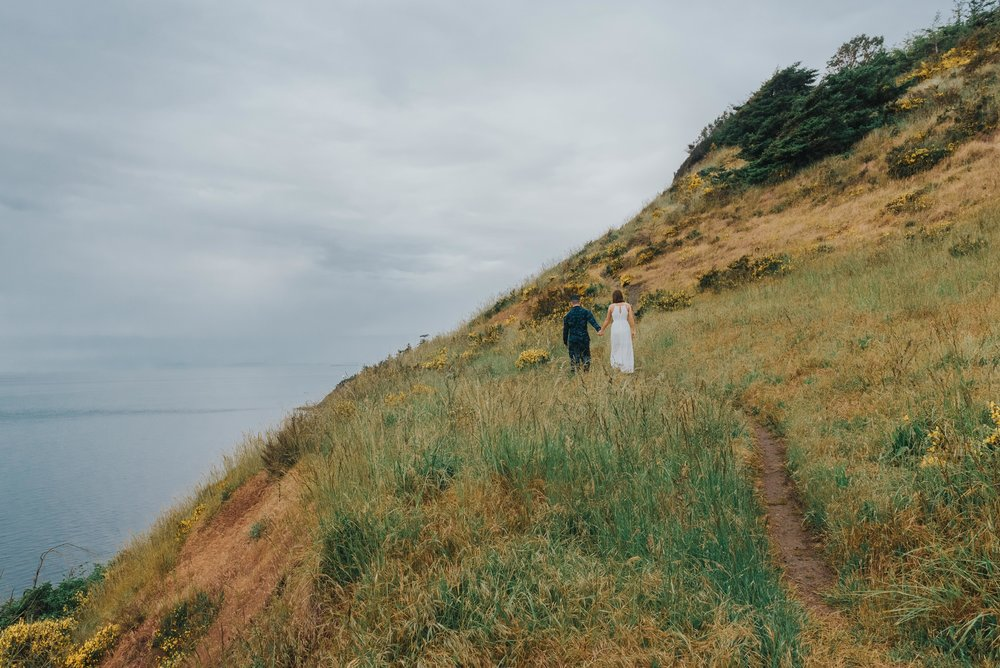 Fort Ebey Cliffside Engagement