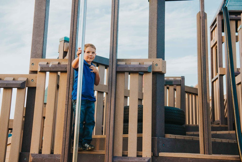 Ft. Nugent Playground. Oak Harbor Family Photographer