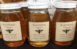 Selling honey at the Bothell Farmer's Market accounts for a major portion of my income.