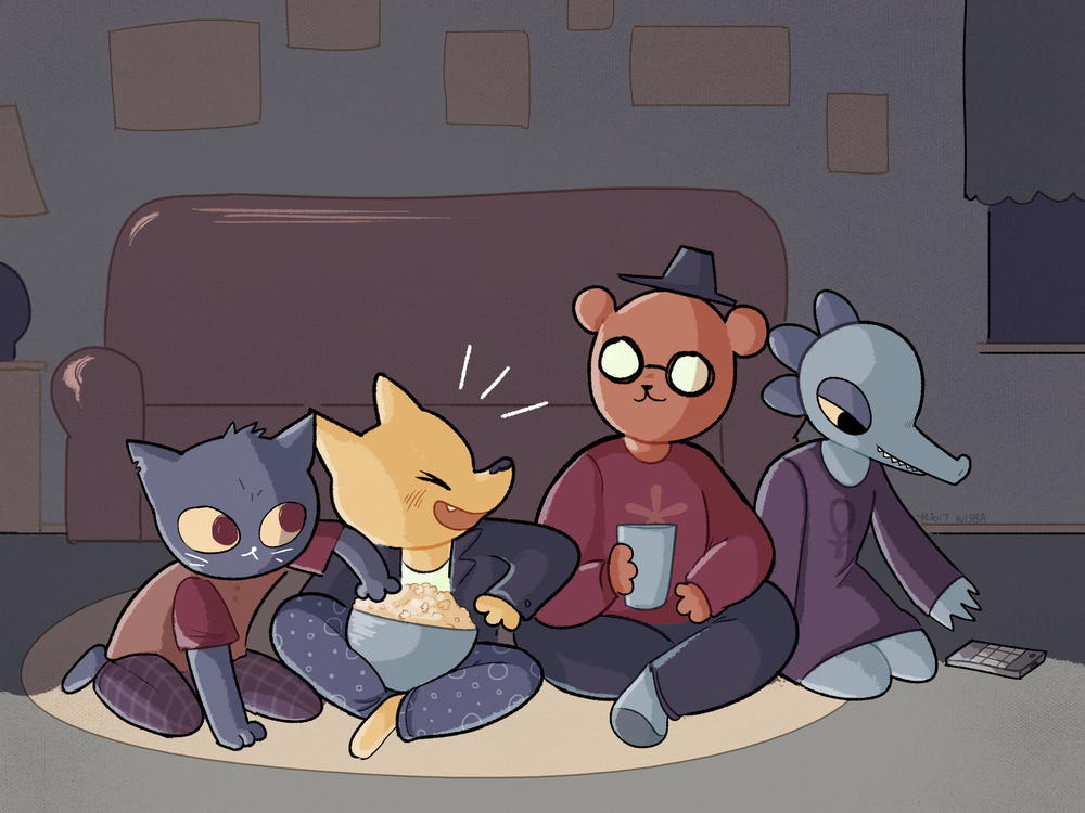 Night In the Woods - Fanart  Digital, 2017