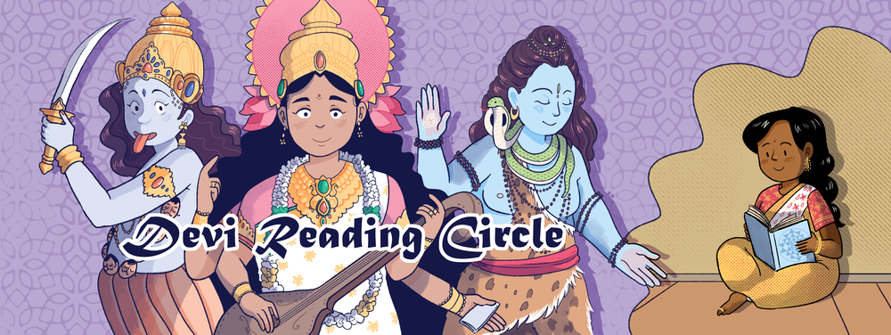 Illustration for the Devi Reading Circle Facebook Group  Digital 2017