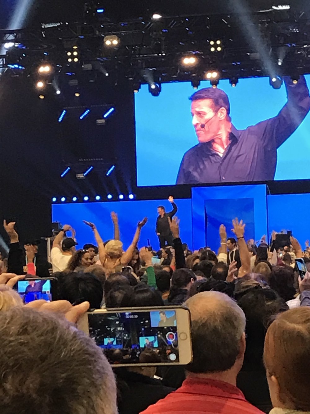 - Attending the Unleash The Power Within Conference with Tony Robbins