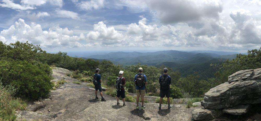 On top of Blood Mountain (Appalachian Trail)
