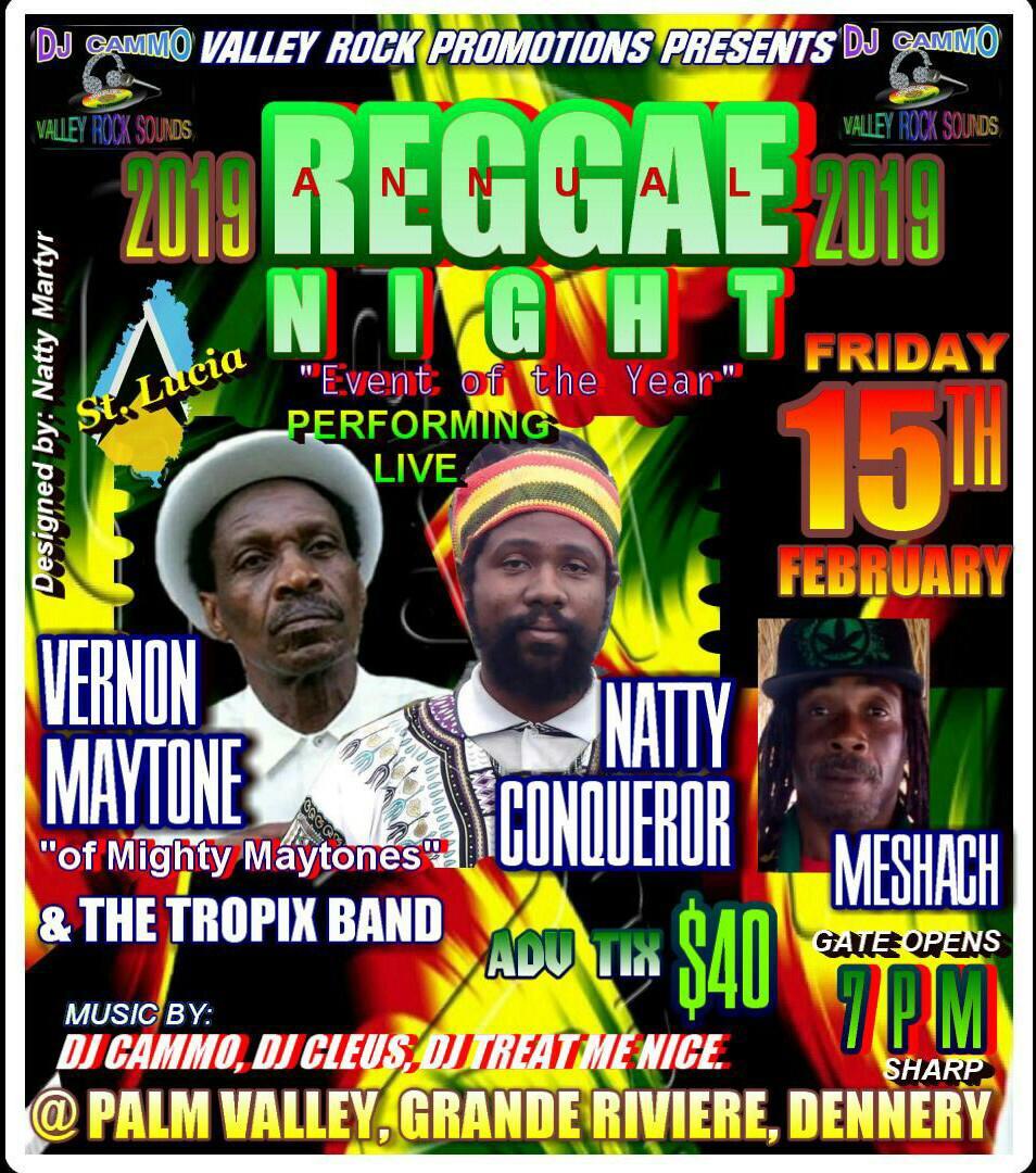Annual Reggae Night  - February 15th, 2019