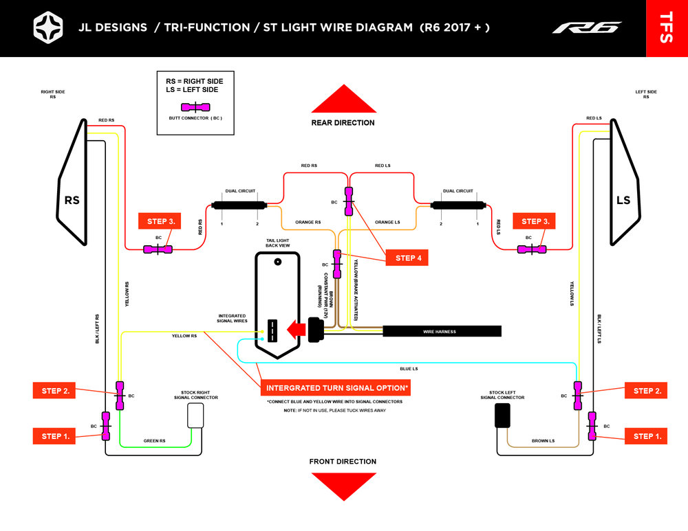 install \u2014 jl designs custom yamaha r1 r6 parts tail light Yamaha Ignition Switch Wiring Diagram 2015 yamaha r1 below