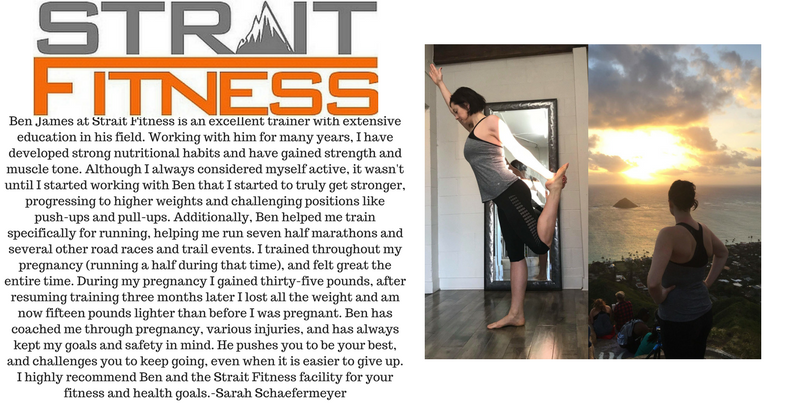 Ben James is an excellent trainer with extensive education in his field. Working with him for many years, I have developed strong nutritional habits and have gained strength and muscle tone. Although I always conside.png