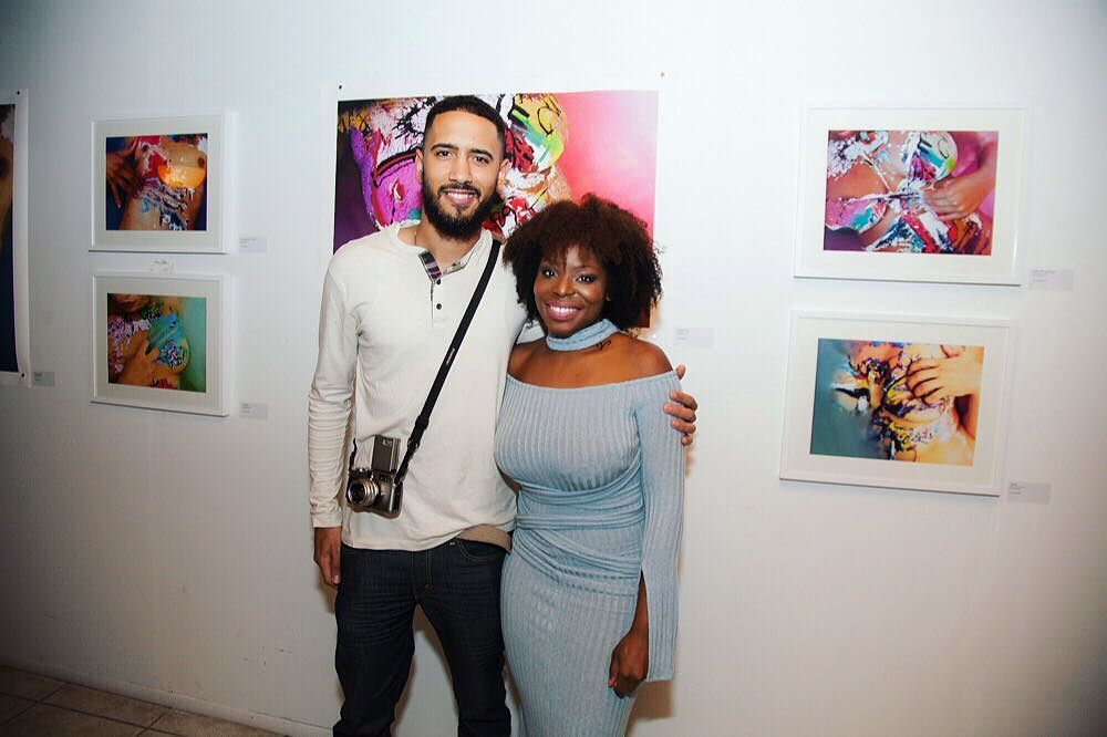 In front of my Art Basel showcase with TXTURE Magazine founder Monifa Coffee