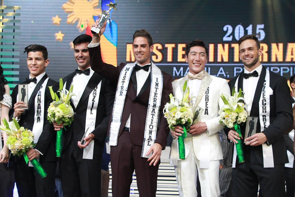 O top 5 do Mister International 2015, com Brasil em segundo lugar!