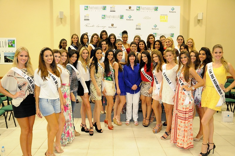 "Julia Morley conversou com as candidatas a Miss Brasil World 2013 sobre a importância do ""Beauty With a Purpose"""