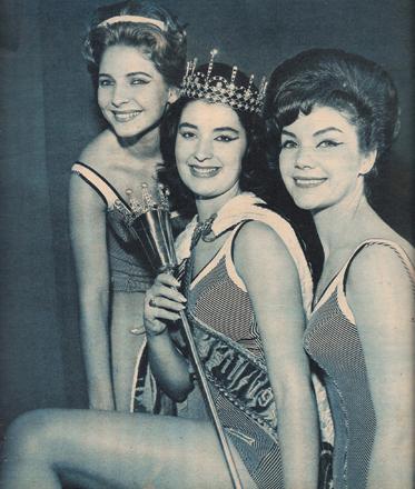 Alda (esq) realizou seu sonho e foi a Paris e Londres, onde disputou o Miss Mundo; Stael (c) foi ao Miss Universo, e Vera (d) foi a Long Beach.