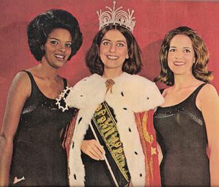 Sergipe foi a Londres com Maria Izabel (dir).Ângela do PR (c) foi ao Miss Universo e Vera da GB foi ao Miss Internacional.