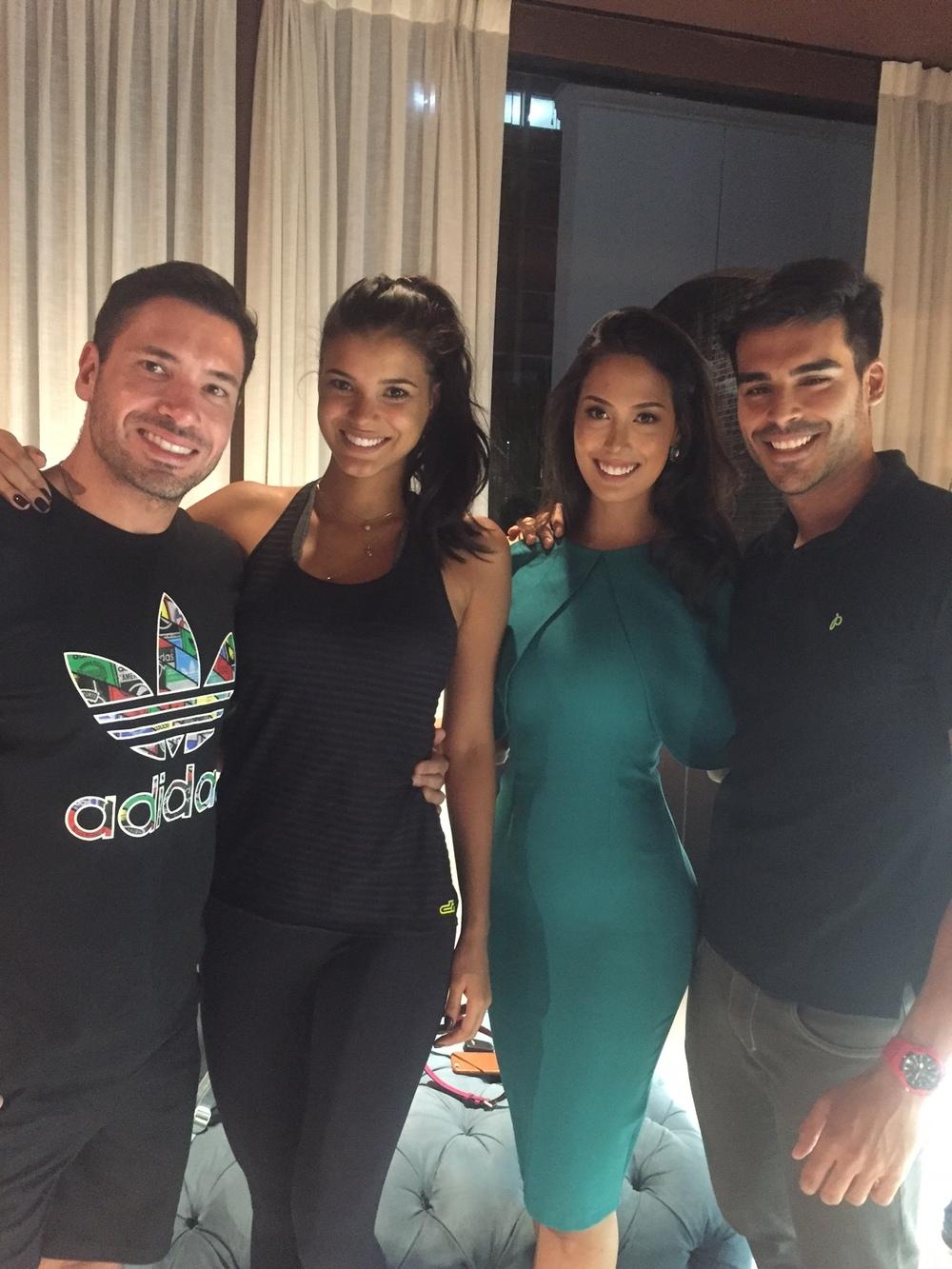 A Miss Mundo Brasil Catharina Choi Nunes e o Mister Brasil Anderson Tomazini ficaram maravilhados com a estrutura da Les Cinq! Por la eles encontraram Jakeline Oliveira, Miss Brasil Universo 2013 (foto Destac Assessoria)