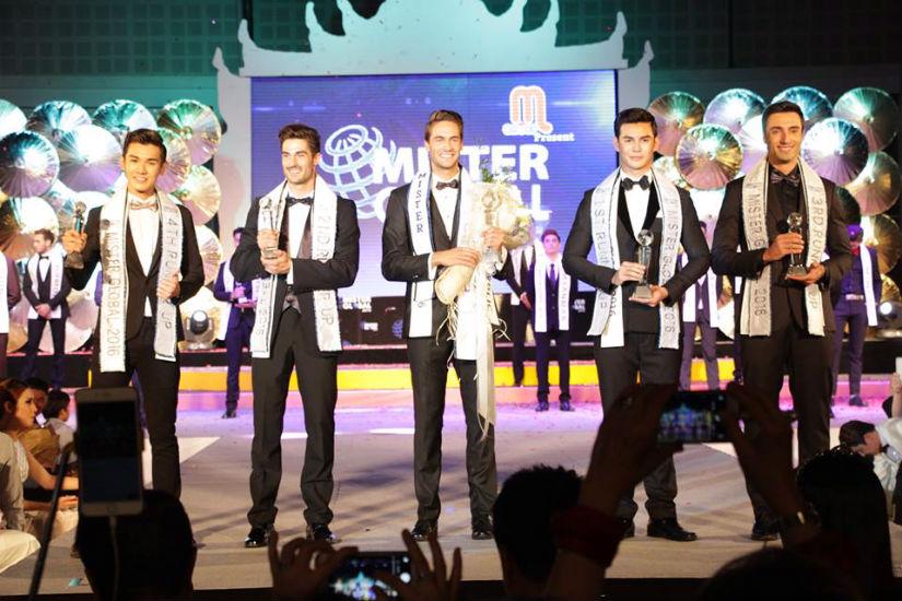 Top 5: Cingapura (5), Espanha (3), Rep. Tcheca (1), Tailândia (2) e Brasil (4) - foto: Mister Global