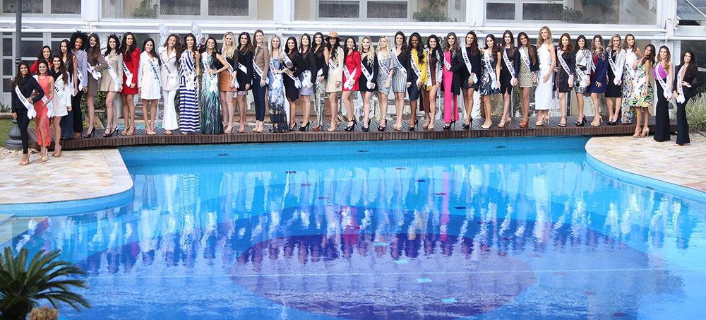 Candidatas a Miss Mundo Brasil 2016 em Jurerê Internacional (foto Leonardo Rodrigues)