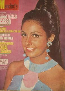 Marlucci: título nacional para o Mato Grosso em 1966 e quarto lugar no Miss Mundo (revista Manchete, 1966).