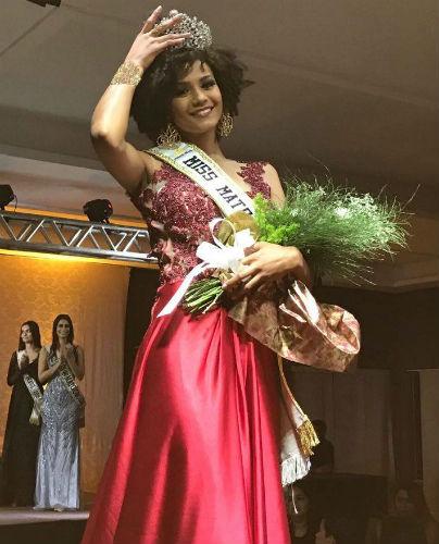 Bárbara Reis, a nova Miss Mato Grosso CNB 2017.