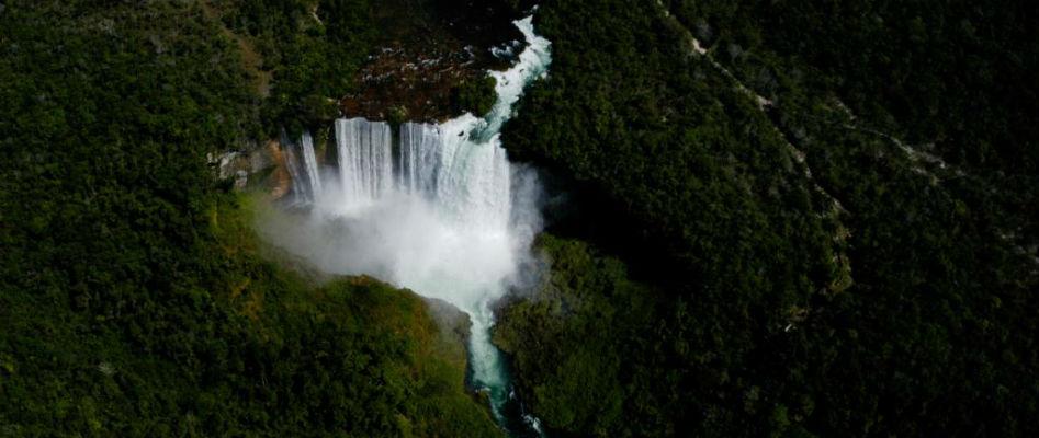 Imagem do Salto Utiariti (MT) - divulgação mt.gov.br