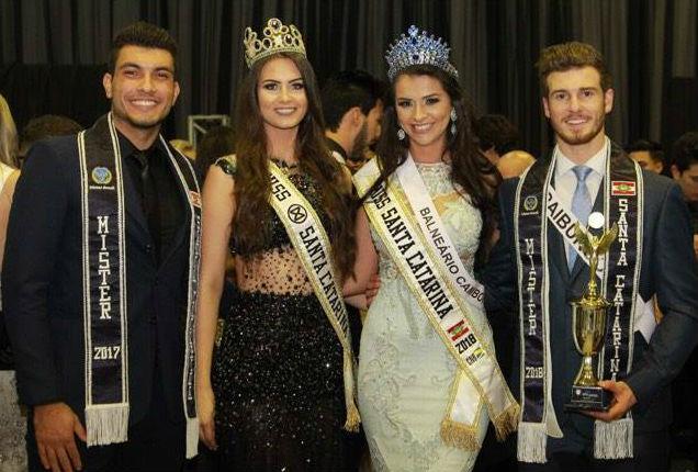 Os vencedores de 2017, que ainda competirão no Hotel do Bosque, no dia 12 de agosto, no Concurso Nacional de Beleza, e os representantes catarinenses no CNB 2018.