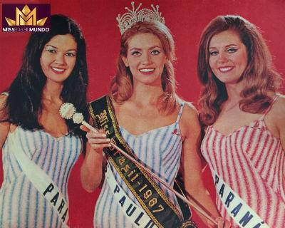 """Wilza (dir) foi vice e competiu no Miss Mundo, em Londres. Assumiu o título de """"Miss Brasil"""" e concorreu em Londres como tal."""