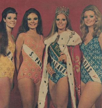 Sônia Yara Guerra, a morena de São Paulo, foi vice e representou o Brasil no Miss Mundo. Eliane, a loira carioca, foi ao Miss Universo.