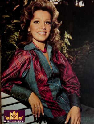 De Minas para Londres: Florence Alvarenga foi semifinalista no Miss Mundo 1973.