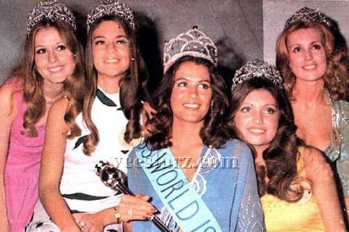 Muita beleza no magnífico Top 5 do Miss Mundo 1976!