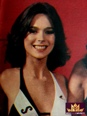 A belíssima Léa Silvia foi finalista do Miss Mundo 1979.