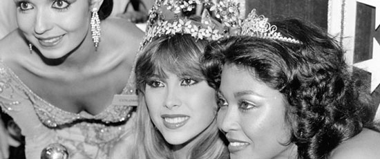 Top 3 do Miss Mundo 1981: Colômbia (2), Venezuela (Miss Mundo), Jamaica (3).