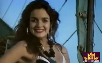 Roberta Pereira da Silva em Macau, co-sede do Miss Mundo 1986. A final aconteceu em Londres.