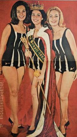 Pelo terceiro ano consecutivo, deu Guanabara no Miss Mundo: Vera Lucia (esq) foi semifinalista em Londres. Ieda Maria Vergas (c) do RS, foi ao Miss Universo e venceu. A paranaense Maria Tania (dir) foi a Long Beach.