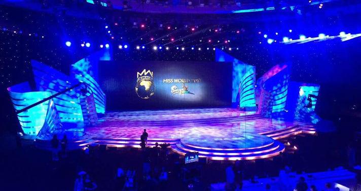 O cenário do Miss Mundo 2017, que acontece neste sábado em Sanya, China.