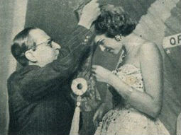 Anos Dourados: o poeta Manuel Bandeira colocou a faixa na Miss Brasil 1954.