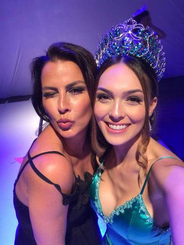 Rainhas: Miss Brasil Mundo 1996 Anuska Prado e Miss Brasil Mundo 2017 Gabrielle Vilela.