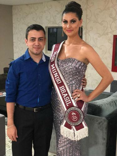 Willian Freitas e a Miss Brasil Mundo 2007, Regiane Andrade.