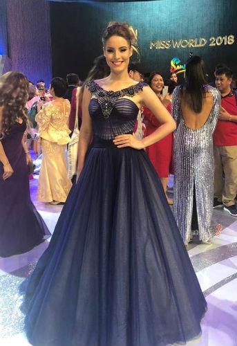 A belíssima Jéssica Caravalho na final do Miss Mundo 2018, realizada em Sanya, China.