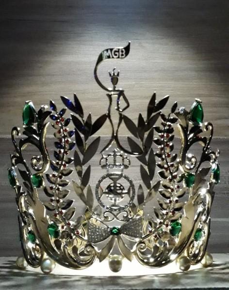 A magnífica coroa que a Miss Grand Brasil 2019 ganhará, uma criação do designer de jóias mineiro Tiago Seixas, da Luxo Primitivo.